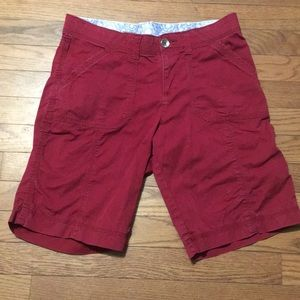 Lee Comfort  shorts 4 Medium Red pockets Stretch